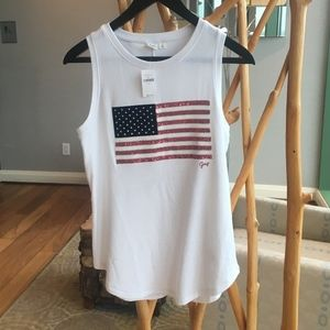 GAP 4th of July American Flag Sequin Tank Top NWT